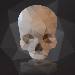 black human scary skull from triangles eps10