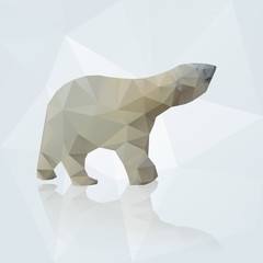 vector polar bear from triangles eps10