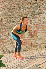 Fitness woman ready for running outdoor