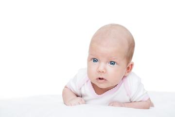 newborn baby seven weeks age