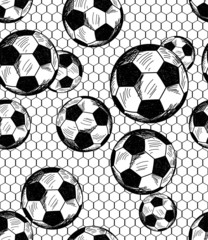 Football (soccer) theme seamless pattern