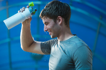 Athlete refreshing water