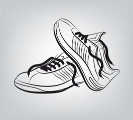 sneakers vector hand drawn