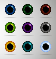 Eye lenses set