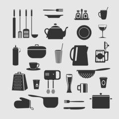 Cookware set of objects