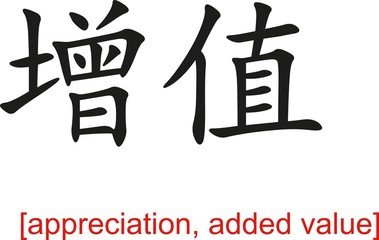 Chinese Sign for appreciation, added value