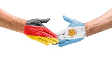 Handshake Deutschland und Argentinien