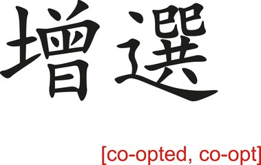 Chinese Sign for co-opted, co-opt
