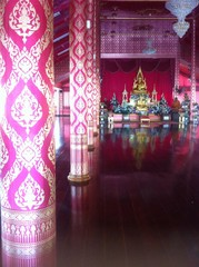 Make a merit at temple in Thailand