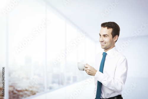 businessman with coffee