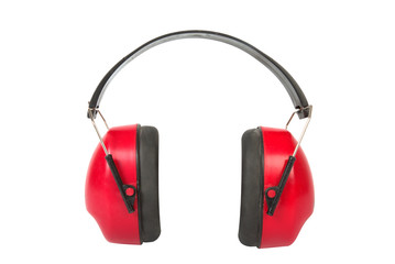 Working protective headphones.