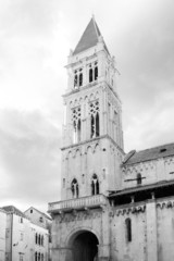 Famous Trogir cathedral of Saint Lawrence, Croatia