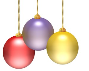 Drei Weihnachtskugeln