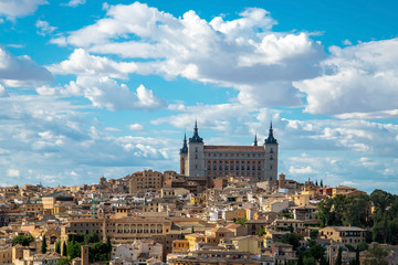 Panorama of the Alcazar of Toledo, near Madrid, Spain.