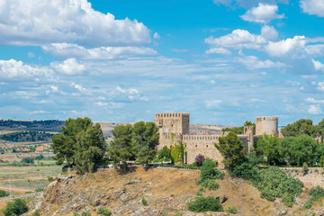 Oropesa castle at Toledo Castilla La Mancha in Spain