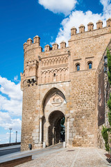 Sun Gate in the city of Toledo, Spain.