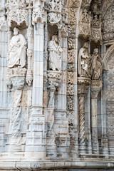 Detail of Hieronymites Monastery (Mosteiro dos Jeronimos) locate