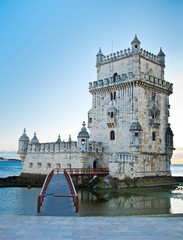 famous Tower of Belem, Lisbon, Portugal.