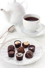 Tea and chocolates