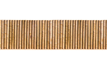 half round post and rail fence isolated seamless image