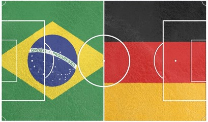 brazil vs germany world cup 2014, football field