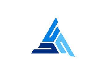 triangle logo design element