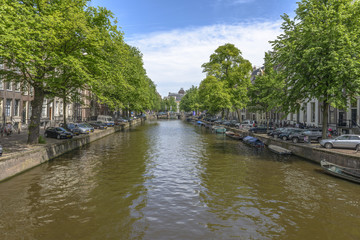 Amsterdam in a summer day