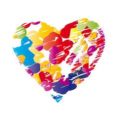 Buntes Herz - Farbklekse