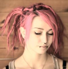 fashionable Woman with Rasta Hair