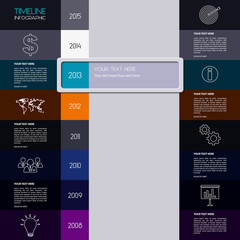 Vector timeline infographic. Modern simple design.
