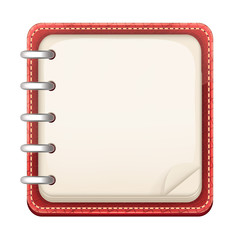 Vector Cartoon Notepad