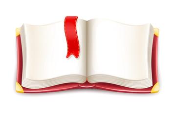 Vector Cartoon Open Book