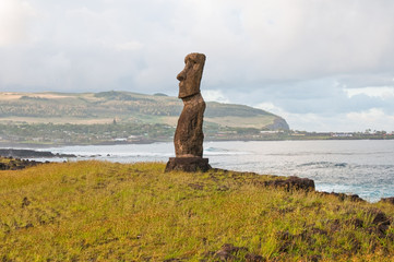 Moai at Ahu Hanga Kioe, Easter island (Chile)