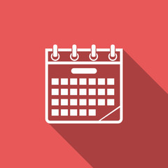 calendar icon with long shadow