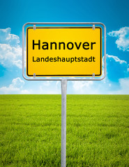 city sign of Hannover