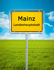 city sign of Mainz