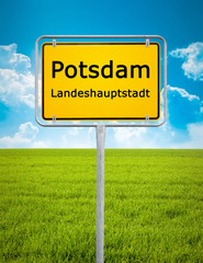 city sign of Potsdam