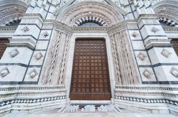 Entrance of Cattedrale di Siena, Siena , Italy
