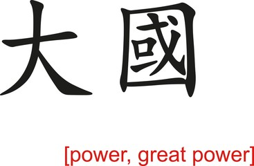 Chinese Sign for power, great power