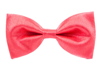 red bow tie isolated on white background
