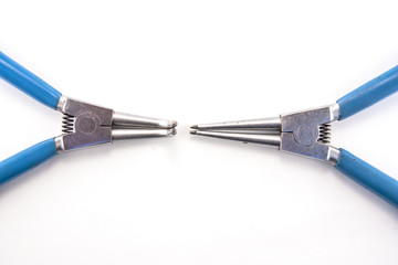 External and internal snapring plier