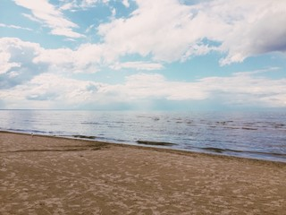 jurmala beach, gulf of riga, baltic sea, latvia
