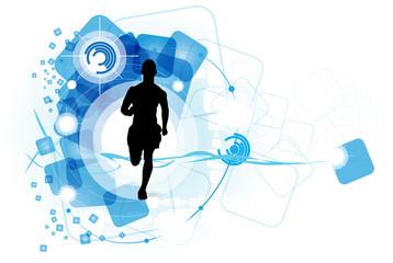 Sport illustration. Runner