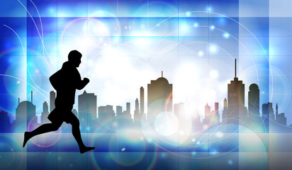 City runner. Sport illustartion