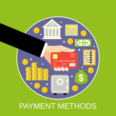 Payment methods concept