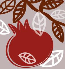 Pomegranate , Decor, ,Holiday,  Postcard