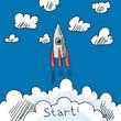 Rocket poster sketch - 67158081