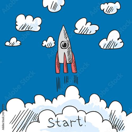 Rocket poster sketch
