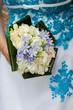 bouquet sur bleu