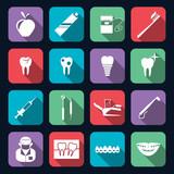 Fototapety Dental Icons Flat